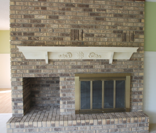 Mantle after being painted