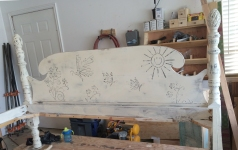 Chalk paint and raised stencil