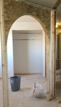 New arched entrance for library
