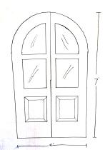 Drawing of future door.