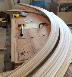Curved blanks ready for profile