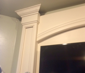 Crown molding around the top